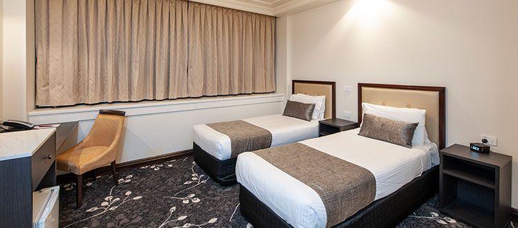 Burke & Wills Hotel Corporate Twin Room