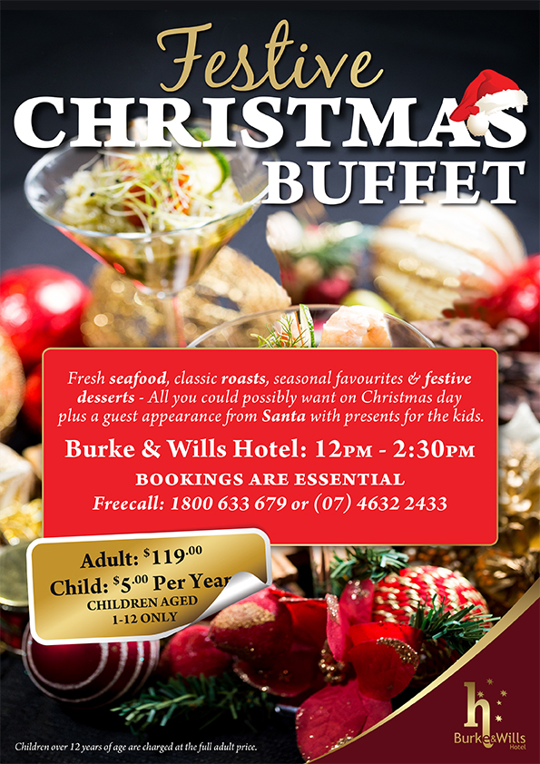 Burke & Wills Hotel Christmas Lunch